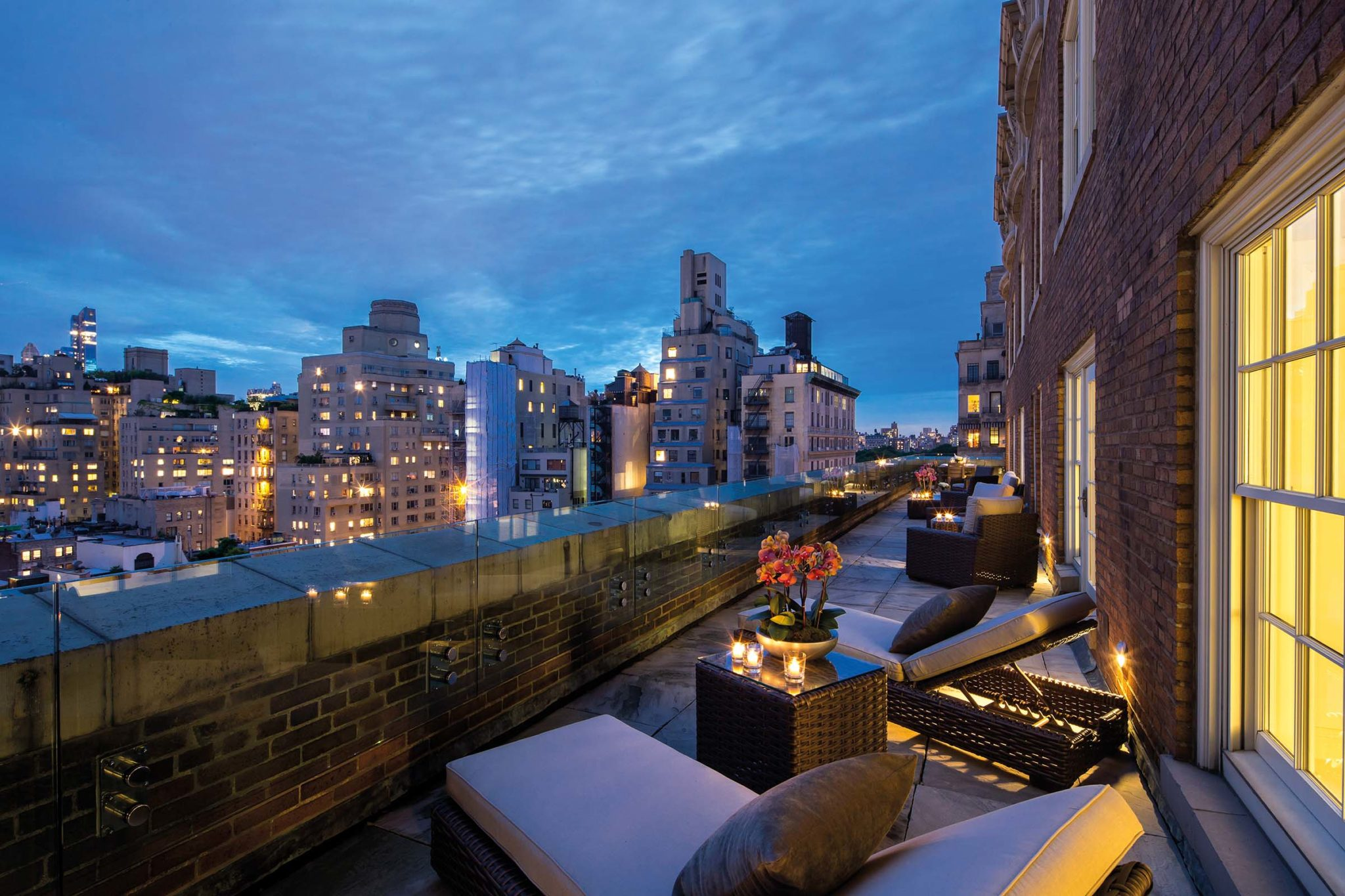 Mark Five Bedroom Suite Terrace Night