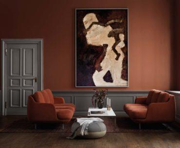 Modulares Sofakonzept mit ästhetischer Dimension Sofa LUNE von Fritz Hansen